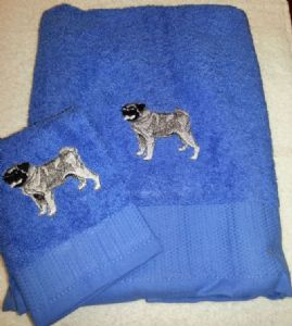 PUG PERSONALISED TOWEL SET - DOG